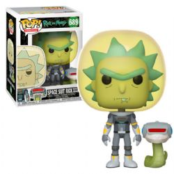 RICK ET MORTY -  FIGURINE POP! EN VINYLE DE SPACE SUIT RICK WITH SNAKE (10 CM) 689