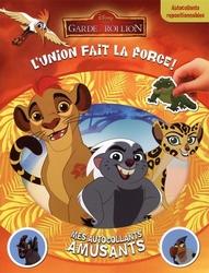 ROI LION, LE -  L'UNION FAIT LA FORCE ! - MES AUTOCOLLANTS AMUSANTS -  GARDE DU ROI LION, LA