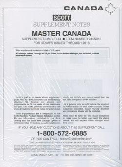 SCOTT MASTER -  SUPPLÉMENT CANADA 2018