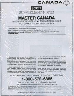 SCOTT MASTER -  SUPPLÉMENT CANADA 2019