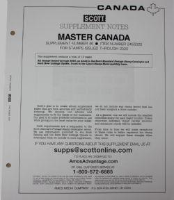SCOTT MASTER -  SUPPLÉMENT CANADA 2020 (SANS POCHETTES)