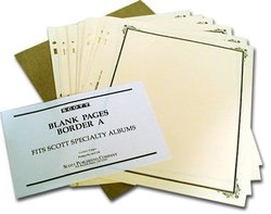 SCOTT SPECIALTY -  PAGES BLANCHES (BORDURE A) (20 PAGES)