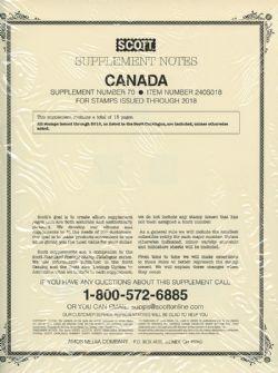 SCOTT SPECIALTY -  SUPPLEMENT CANADA 2018