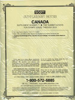 SCOTT SPECIALTY -  SUPPLEMENT CANADA 2019