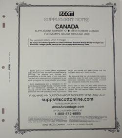 SCOTT SPECIALTY -  SUPPLEMENT CANADA 2020 (SANS POCHETTES)