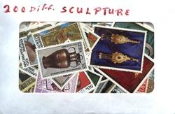 SCULPTURE -  200 DIFFÉRENTS TIMBRES - SCULPTURES