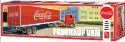 SEMI-REMORQUE -  REMORQUE COCA-COLA FRUEHAUF VAN MODEL FB BEADED PANEL 1/25 (MODÉRÉ)