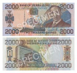 SIERRA LEONE -  2000 LEONES 2002 (UNC)