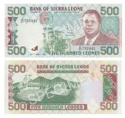 SIERRA LEONE -  500 LEONES 1991 (UNC)
