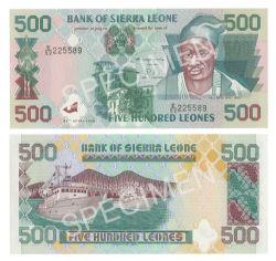 SIERRA LEONE -  500 LEONES 1995 (UNC)