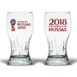 SOCCER 2018 -  VERRE DE FIFA WORLD CUP RUSSIA (PAQUET DE 2)