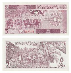 SOMALIE -  5 SHILLINGS 1987 (UNC)