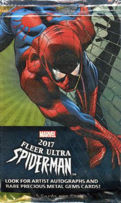 SPIDER-MAN -  2017 FLEER ULTRA - TRADING CARDS (P5/B12)