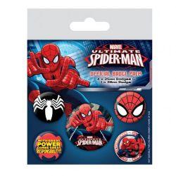 SPIDER-MAN -  ENSEMBLE DE 5 ÉPINGLETTES -  ULTIMATE SPIDER-MAN