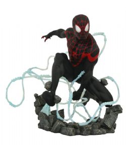SPIDER-MAN -  STATUE DE MILES MORALES (22CM) -  MARVEL PREMIERE COLLECTION