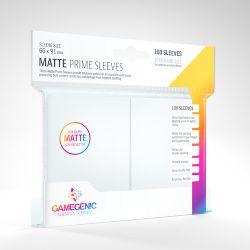 STANDARD CARD GAME -  BLANC - MATTE PRIME SLEEVES (66MM X 91MM) (100) -  GAMEGENIC