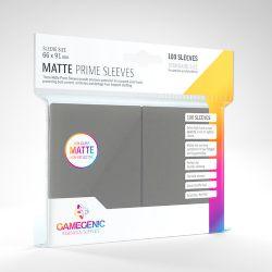 STANDARD CARD GAME -  GRIS FONCÉ - MATTE PRIME SLEEVES (66MM X 91MM) (100) -  GAMEGENIC