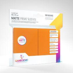 STANDARD CARD GAME -  ORANGE - MATTE PRIME SLEEVES (66MM X 91MM) (100) -  GAMEGENIC