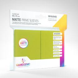 STANDARD CARD GAME -  VERT LIME - MATTE PRIME SLEEVES (66MM X 91MM) (100) -  GAMEGENIC