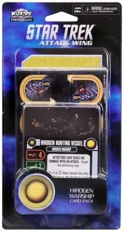 STAR TREK : ATTACK WING -  HIROGEN WARSHIP - CARD PACK (ANGLAIS)