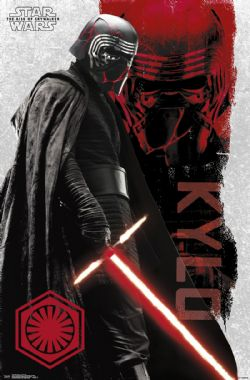 STAR WARS -  AFFICHE KYLO REN (56 CM X 86.5 CM) -  STAR WARS : L'ASCENSION DE SKYWALKER
