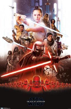 STAR WARS -  AFFICHE STAR WARS - « GROUP » (56 CM X 86.5 CM) -  STAR WARS : L'ASCENSION DE SKYWALKER