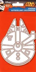 STAR WARS -  AUTOCOLLANT -  FAUCON MILLENNIUM