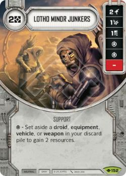 STAR WARS DESTINY -  LOTHO MINOR JUNKERS -  WAY OF THE FORCE