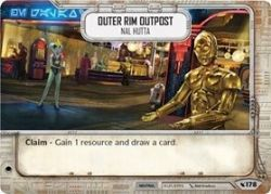 STAR WARS DESTINY -  OUTER RIM OUTPOST - NAL HUTTA -  LEGACIES