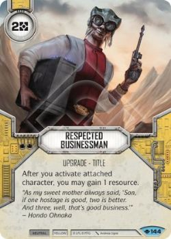 STAR WARS DESTINY -  RESPECTED BUISNESSMAN -  WAY OF THE FORCE