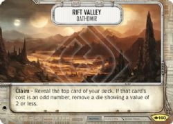 STAR WARS DESTINY -  RIFT VALLEY - DATHOMIR -  WAY OF THE FORCE