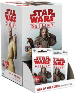 STAR WARS DESTINY -  WAY OF THE FORCE BOOSTER PACK (ANGLAIS)