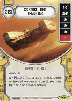 STAR WARS DESTINY -  XS STOCK LIGHT FREIGHTER -  WAY OF THE FORCE