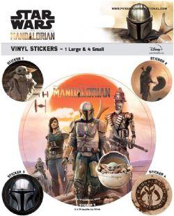 STAR WARS -  ENSEMBLE DE 5 STICKERS VINYL -  LE MANDALORIEN