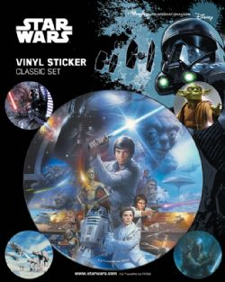 STAR WARS -  ENSEMBLE DE 5 STICKERS VINYL