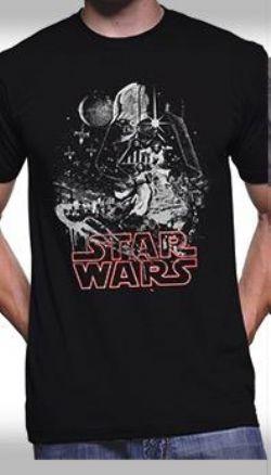 STAR WARS -  T-SHIRT POSTER NEW HOPE - NOIR
