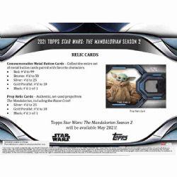STAR WARS -  TOPPS SEASON 2 2021 (P8/B7/C12) -  LE MANDALORIEN
