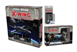 STAR WARS : X-WING -  JEU DE BASE + 2 EXTENSIONS EMPIRE GALACTIQUE (FRANÇAIS) -  1RE ÉDITION