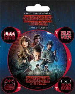 STRANGER THINGS -  ENSEMBLE DE 5 STICKERS VINYL