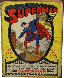 SUPERMAN -  AFFICHE MÉTALLIQUE