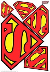 SUPERMAN -  SUPERMAN - AUTOCOLLANTS POUR VOITURE