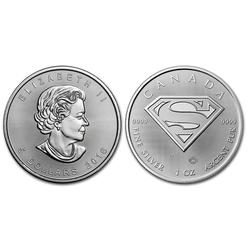 SUPERMAN -  SUPERMAN - PIÈCE D'UNE ONCE EN ARGENT PUR -  PIÈCES DU CANADA 2016