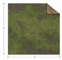 SURFACE DE JEU -  BROKEN GRASSLAND/DESERT SCRUBLAND (3'X3') -  MONSTER SCENERY