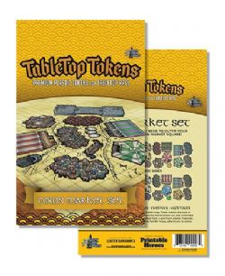 TABLETOP TOKENS -  TOWN MARKET SET