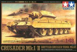 TANK -  CRUSADER MK.I/II BRITISH CRUISER TANK MK.VI - 1/48