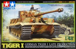 TANK -  GERMAN TIGER 1 LATE PRODUCTION - 1/48