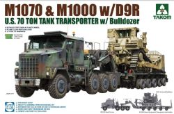 TANK -  U.S. M1070&M1000 W/D9R, 70 TON TANK TRANSPORTER W/BULLDOZER - 1/72