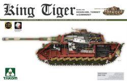 TANK -  WWII GERMAN HEAVY TANK SD.KFZ.182 KING TIGER HENSCHEL TURRET W/ZIMMERIT AND INTERIOR - 1/35