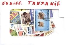 TANZANIE -  50 DIFFÉRENTS TIMBRES - TANZANIE