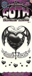 TATOUAGES -  TATOUAGE TEMPORAIRE GOTHIQUE - DEAD INSIDE (15 CM)